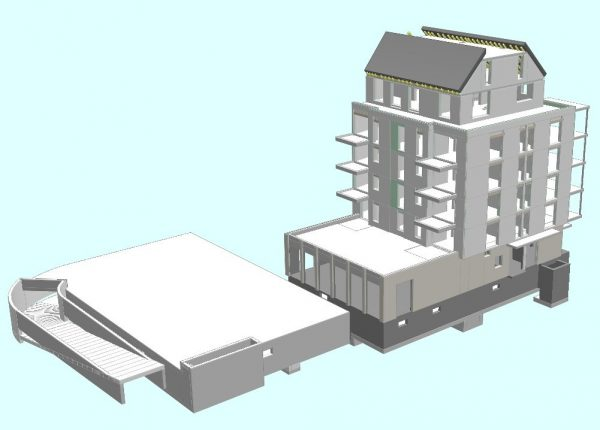 Neubau eines Mehrfamilienhauses in Düsseldorf